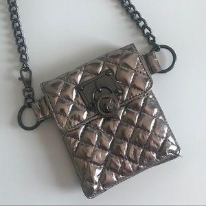 MICHAEL KORS | Belt Bag | gunmetal chain